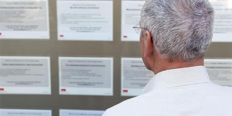 Het valt niet mee om als oudere werkloze een nieuwe baan te vinden. Foto: ANP
