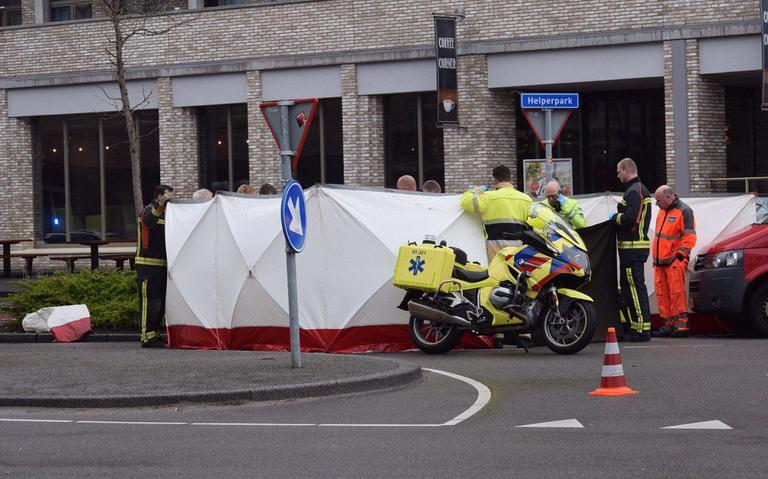 Fietser gewond bij aanrijding Helperpark Groningen.