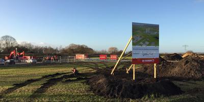 De locatie aan Duurkenakker, tussen Meeden en Muntendam, werd in december asbest werd gedumpt. foto dvhn