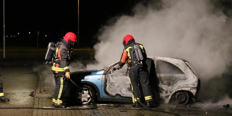 De brand ging met grote rookontwikkeling gepaard.Foto: Marcel Klip/112 Groningen