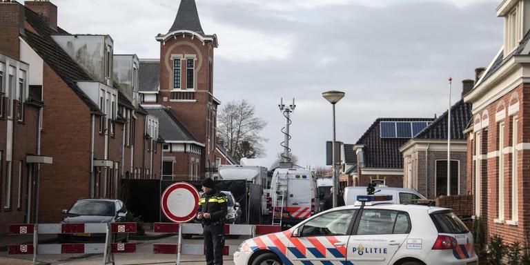 De politie reconstrueerde in Kloosterburen de dood van Jesse van Wieren uit Leens.
