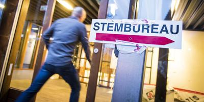 In elf gemeenten in Groningen kunnen mensen hun stem uitbrengen Foto: ANP