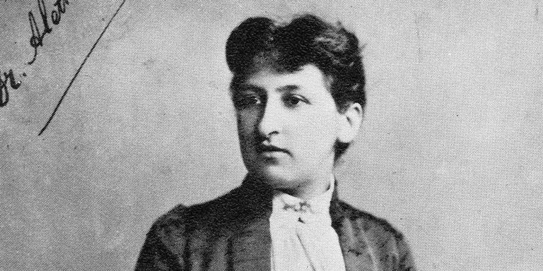 Aletta Jacobs op de dag van haar promotie 8 maart 1879. Foto: Groninger Archieven