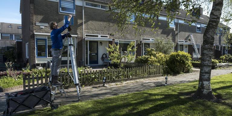 De voorbereidingen van de versterkingsoperatie zijn al in volle gang in de wijk opwierde in Appingedam.
