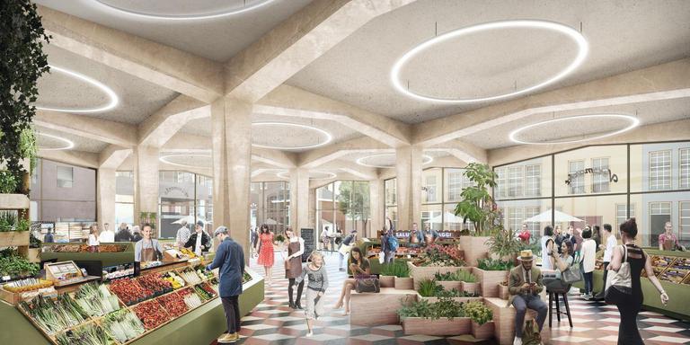 Groningen krijgt een mercado, een overdekte markthal waar vers, ambachtelijk en lokaal het adagium is. De mercado komt op de plek waar nu nog supermarkt Aldi zit.