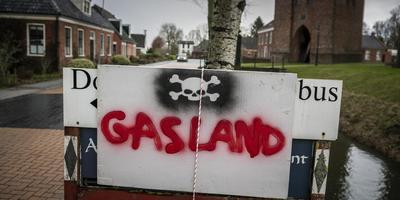 Protestbord in Zeerijp tegen de gaswinning. Foto: Kees van de Veen