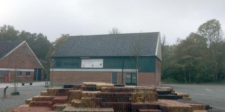De huidige situatie op het Erfgoedplein in Slochteren. foto dvhn