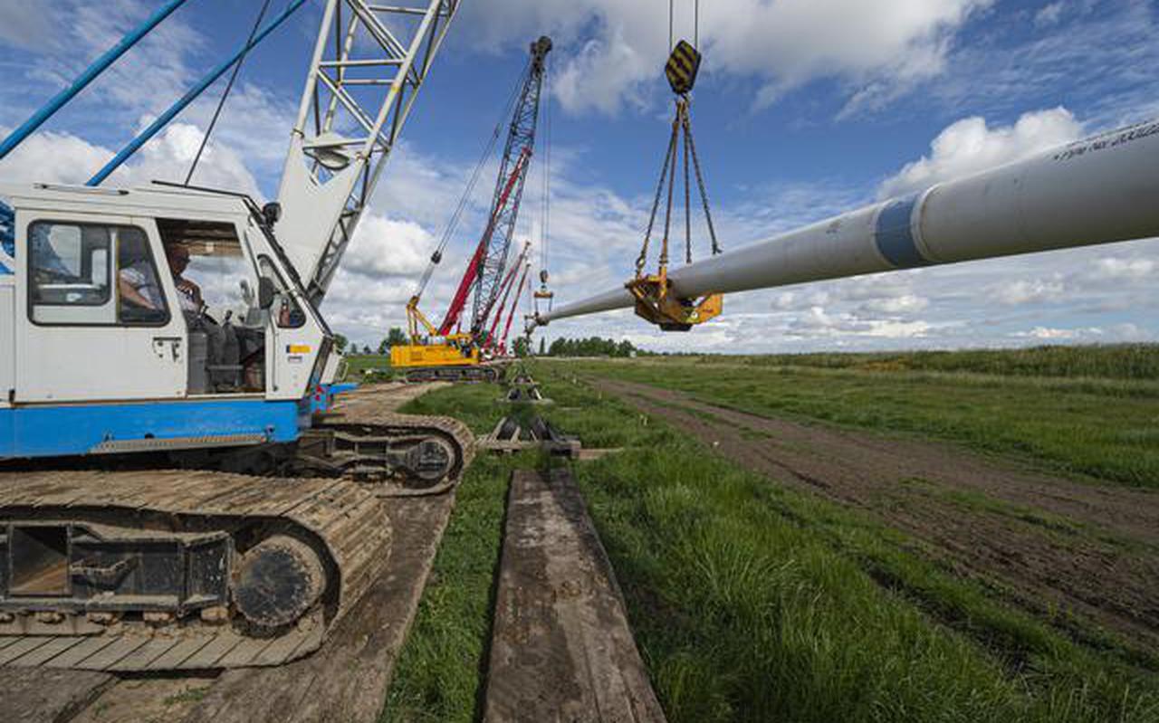 De nieuwe waterleiding bij Appingedam. Foto: Waterbedrijf Groningen/Duncan Wijting.