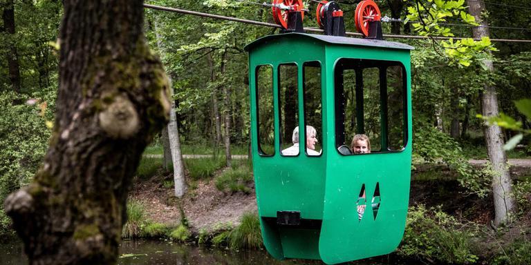 De kabelbaan over het Ruiten-Aa-Kanaal in Ter Apel is wegens vandalisme gesloten
