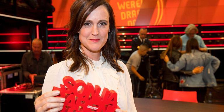 Janine Abbring won de Sonja Barend Award voor haar interview met Eberhard van der Laan in Zomergasten van het vorige seizoen. Foto: ANP