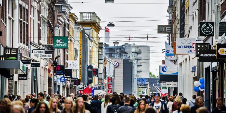 De Herestraat in Groningen wordt drukker bezocht dan andere jaren