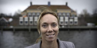 Zeilster Annemieke Bes is zondagmiddag in Haren. Foto: Archief DvhN/Duncan Wijting