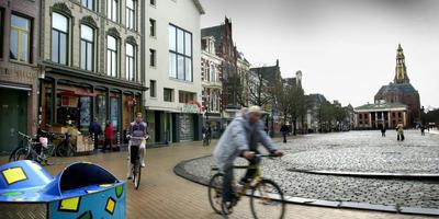 Er komt mogelijk een fietsenstalling onder de Vismarkt.