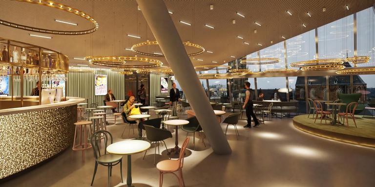 Het filmplein met café (en uitzicht). © &Prast&Hooft
