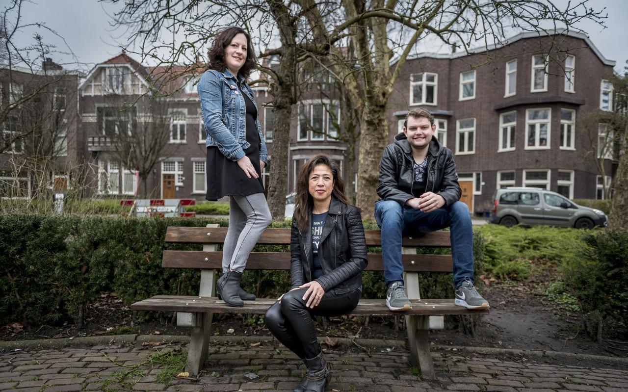 Projectleider Anouk Junius, mentor Carolina Reynaert en jongere Ethan Wildeman
