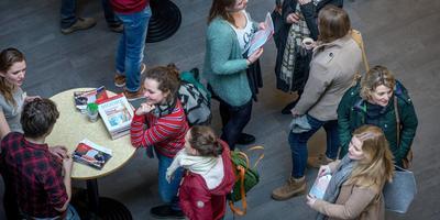 Open dag geneeskunde bij de Rijksuniversiteit Groningen. Foto Archief Corné Sparidaens
