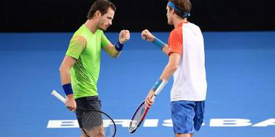 Koolhof klaar in dubbelspel op Australian Open