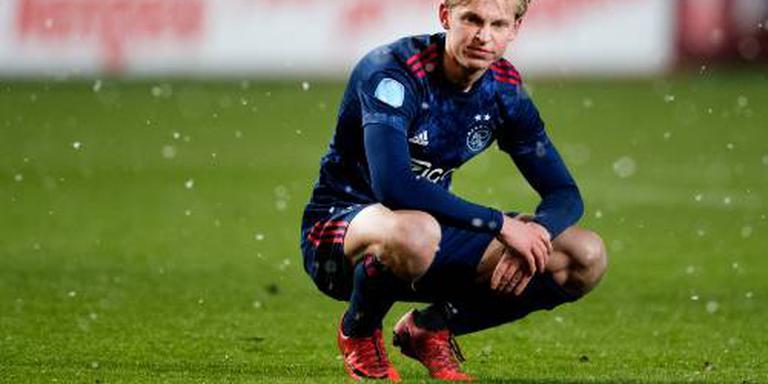 De Jong traint bij Ajax weer met de groep