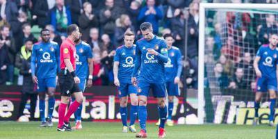 Feyenoord wankelt op derde plaats