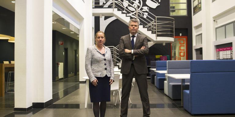 ANP De twee bewindvoerders van V&D Kees van der Meent en Hanneke De Coninck-Smolders