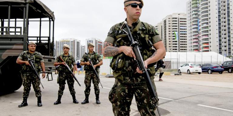 Militairen zichtbaar in straten van Rio