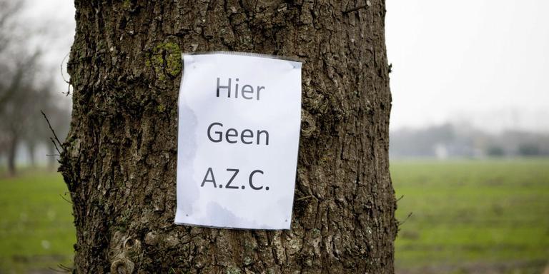 Protest tegen komst azc Meppel.