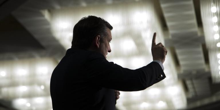 Ted Cruz gaat voor de dood of de gladiolen
