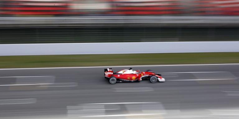 Vettel de snelste in eerst test Barcelona
