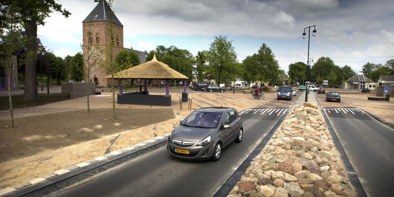 Het centrumplein in Borger. Foto: Archief DvhN