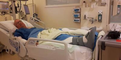Joop van Meer in het ziekenhuis in Groningen