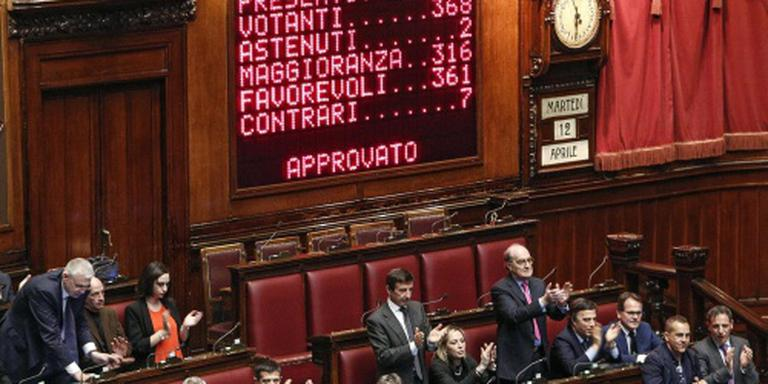 Parlement Italië stemt voor staatshervorming