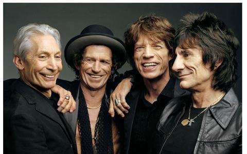 Rolling Stones in 1999 minus bassist Darryl Jones