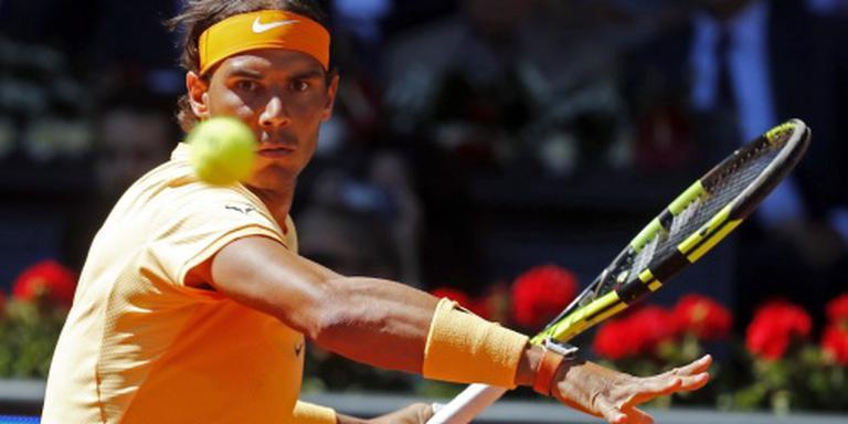 Nadal simpel ronde verder in Madrid