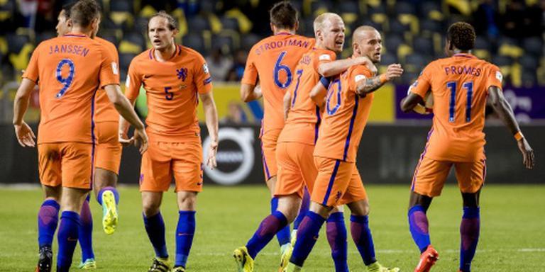 Oranje speelt gelijk tegen Zweden