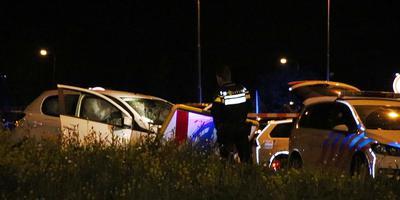 De achtervolging eindigde op de Friesetraatweg. Foto: Archief/112Groningen