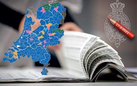 Waar wint de VVD, in welke gemeentes verliest links? Bekijk het hier   In Beeld