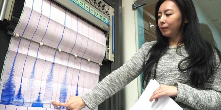 Flatgebouw ingestort door aardbeving Taiwan
