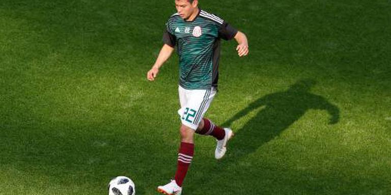 Lozano en Gutiérrez kijken toe bij Mexico