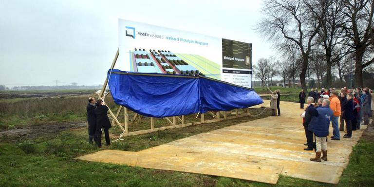 De presentatie van de plannen van het Winkelpark in Hoogezand. FOTO ARCHIEF DVHN