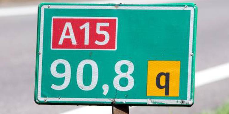 A15 weer open na dodelijk ongeval