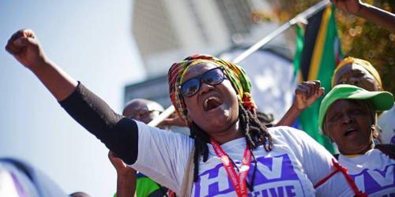 Aidsactivisten lopen protestmars