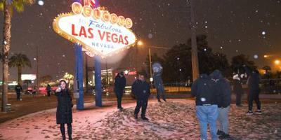 Zeldzame sneeuwval in zuidwesten van de VS