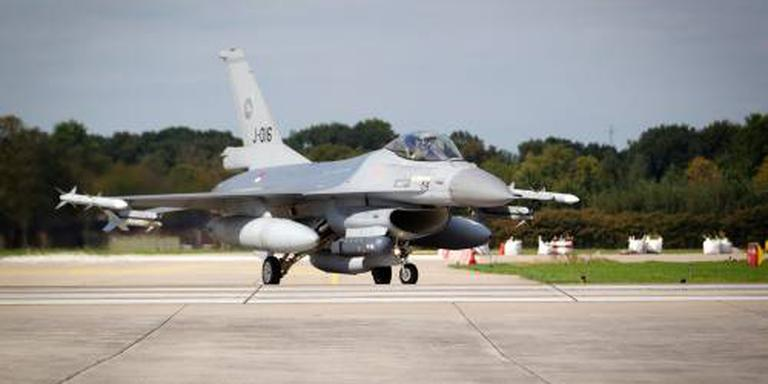 F-16 op rotonde in Volkel
