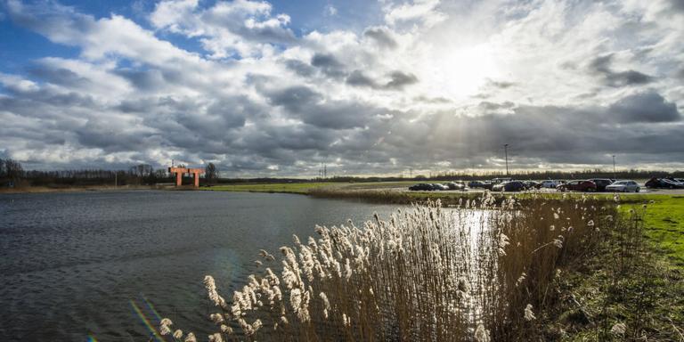 Foto van het gebied waar mogelijk een Factory Outlet Centre wordt geplaatst. FOTO MARCEL JURIAN DE JONG