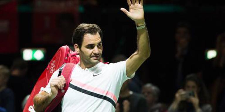 Federer begint vlekkeloos in Rotterdam