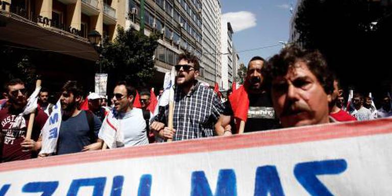 Grieken staken tegen bezuinigingsbeleid