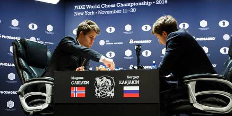 Zesde remise tussen Carlsen en Karjakin