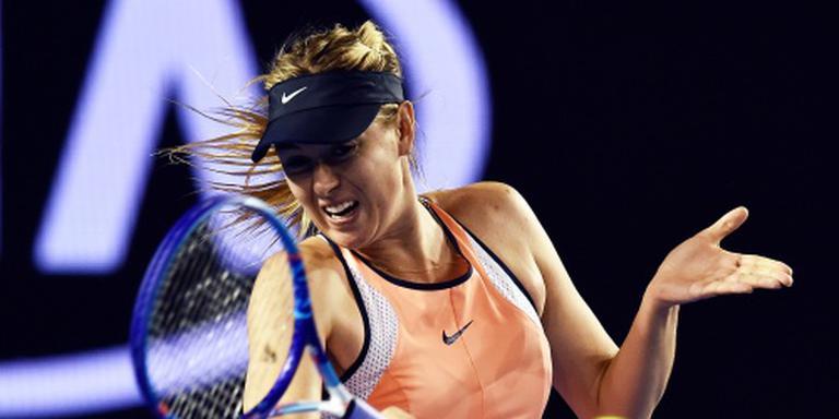 Sjarapova door op de Australian Open