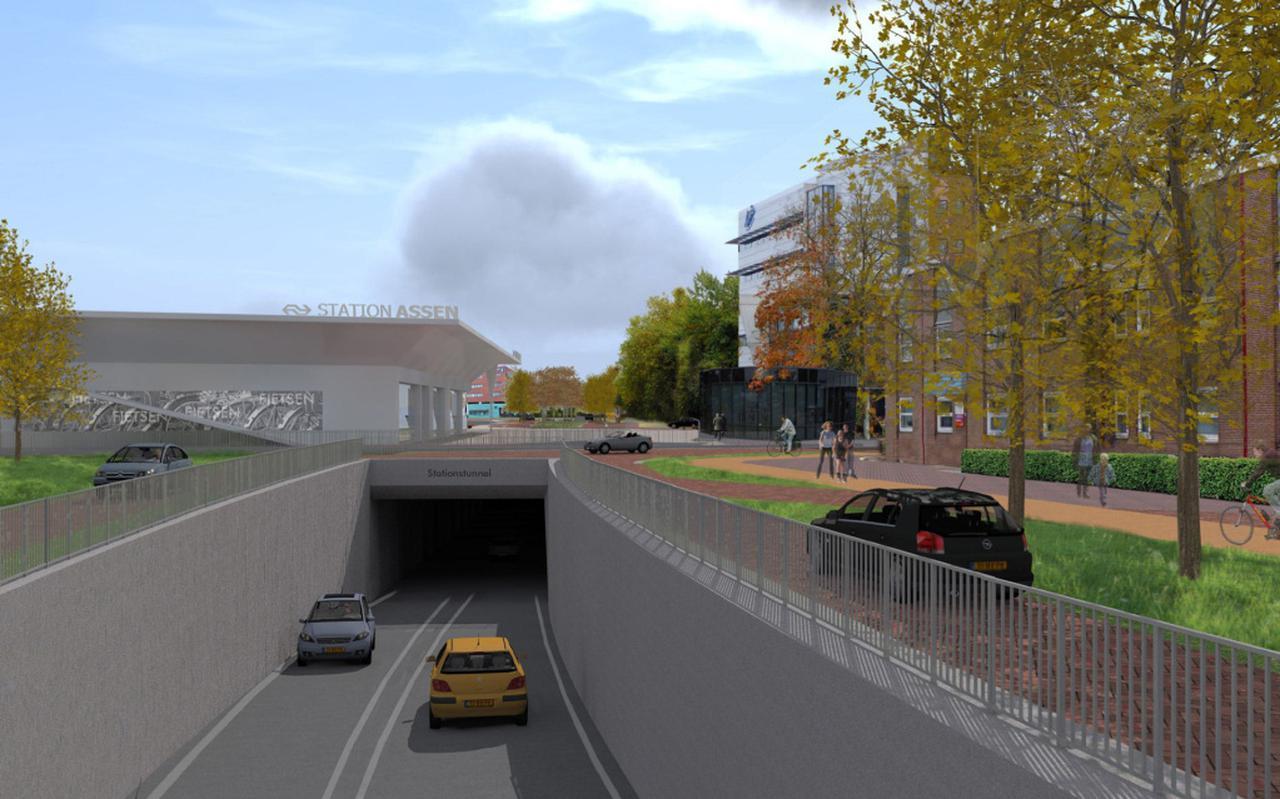 Hoe ziet straks tunnel onder Overcingellaan in Assen eruit?
