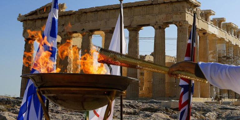 De olympische vlam. FOTO ANP